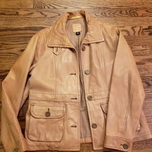 Soft Genuine Leather Gap Jacket